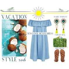 Tropical Paradise - Vacation Style 2016 by latoyacl on Polyvore featuring New Look, Billabong, Sarah's Bag and Ethan Allen