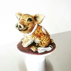 Pig leopard cake, biggetje luipaard taart. By Flappergasted Cakes