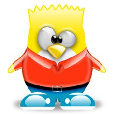 Linux, Bart Simpson, Penguin Coloring, The Simpsons, Tweety, Gifs, Clip Art, Popular, Decorating