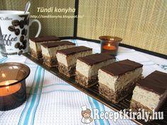 Diós-kávékrémes sütemény | Receptkirály.hu Ale, Pudding, Chocolate, Coffee, Cooking, Dios, Kaffee, Kitchen, Ale Beer