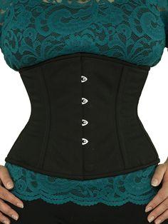 0ff2bf09ce waist trainer cs 411 black cotton corset front Waist Training Corset