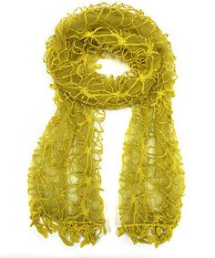 Love this Yellow Floral Embroidered Scarf by East Cloud on #zulily! #zulilyfinds