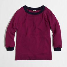 J.Crew Factory Factory drapey sweatshirt on shopstyle.com