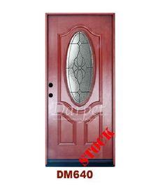 Mahogany Exterior Fiberglass Door 640 | Darpet Interior Doors for Chicago Builders :/