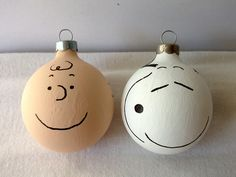 a little gray Charlie Brown Christmas Ornaments Tutorial  All