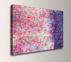 "Abstract Painting - Canvas Print Reproduction - Modern Wall Decor - Colorful Wall Art - ""Mosaic"""