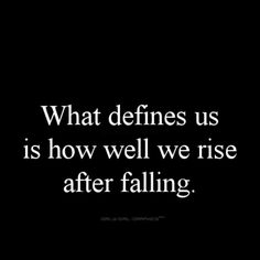 How well we rise