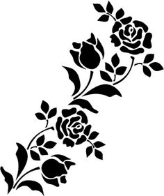 Impertinent image for printable flowers stencils