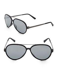 Givenchy 59MM Aviator Sunglasses - Black - Size No Size