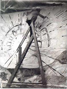 Edvard Munch painting the sun