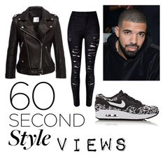 """""""Black view"""" by bartivana ❤ liked on Polyvore featuring Anine Bing, NIKE, DRAKE, views and 60secondstyle"""