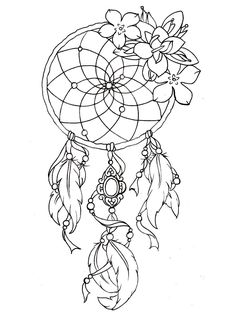 to print this free coloring page coloring dreamcatcher tattoo designs - Printable Color