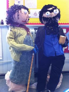 Mr and Mrs Twit came to life in the classroom! Mrs Twit, Roald Dahl Day, The Twits, Special Educational Needs, Book Corners, Book Study, Chocolate Factory, Classroom Displays, Fancy Dress