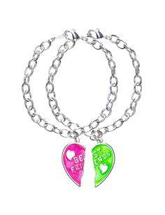Girls Clothing   Bracelets   Best Friends Neon Heart Bracelets   Shop Justice