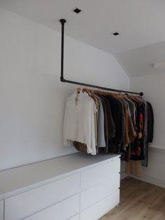 Tiny Loft, Aesthetic Bedroom, Walk In Closet, Bedroom Inspo, New Room, Home And Living, Wardrobe Rack, Room Inspiration, Home Accessories