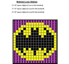 """Ravelry: Batman Logo Quilt pattern by SkullChick. Use this to stitch """"Keep Calm and Call Batman"""" Knitting Charts, Knitting Patterns, Crochet Patterns, Crochet Ideas, Pixel Crochet, Crochet Chart, Batman Quilt, Batman Crafts, Cross Stitch Patterns"""