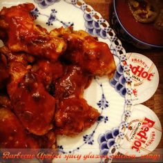 Barbecue apricot spicy glazed chicken wings Dinner tonight, January 23 ...