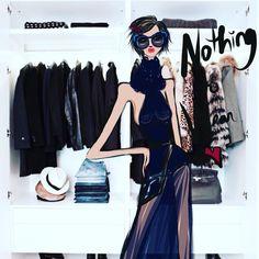Nothing to Wear …:) #illustration#fashionillustrator#fashionblogger#blog#fashionsketch
