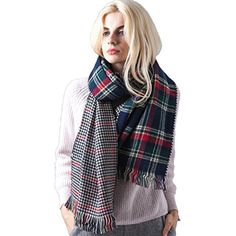 Fashion Unisex Winter Reversible Plaid Print Blanket Scarf Shawl >>> Want additional info? Click on the image. (This is an affiliate link) #Accessories