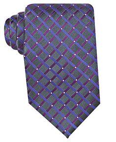 Geoffrey Beene Tie, Warren Grid Big and Tall - Mens Ties - Macy's