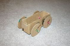 Picture of Rubber Band Powered Cardboard Car