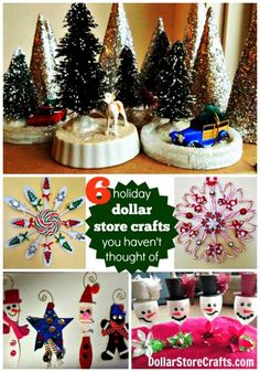 6 Dollar Store Craft ideas for Christmas that you haven't thought of! - dollarstorecrafts.com