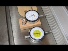 Table saw micro adjusting with a dial indicator - YouTube
