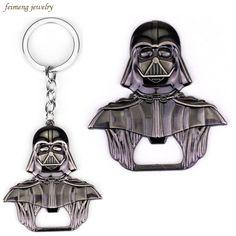 Star Wars Lord Darth Vader Bar Metal Alloy Beer Bottle Cap Opener Keychain Movie Series keyring #Affiliate