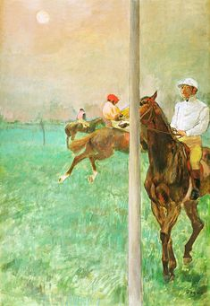 Jockeys before the Start with Flagpoll by artist Edgar Degas. hand-painted museum quality oil painting reproduction on canvas. Edgar Degas, Art Ancien, Oil Painting For Sale, Manet, Oil Painting Reproductions, Equine Art, Horse Art, Famous Artists, Canvas Art Prints