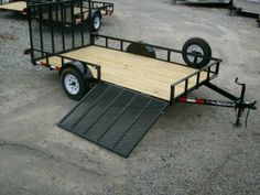 76 x 14 with side gate utility trailer Utv Trailers, Trailer Ramps, Work Trailer, Best Trailers, Custom Trailers, Trailer Plans, Utility Trailer, Welding Projects, Fun Projects