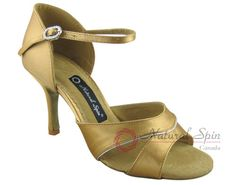 Natural Spin Signature Latin Shoes(Open Toe):  H1158-07a_GoldES