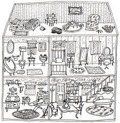 Printable dollhouse from Ann Wood Handmade