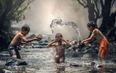 HD wallpaper: Kids Playing With Water, boy's orange shorts, Asia, Thailand Baby Im Mutterleib, Chantal, Where Are You Now, Orange Shorts, Electronic Toys, The Kingdom Of God, Art Mural, Kerala, Children Photography