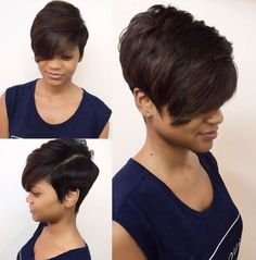 Sharene 60 Showiest Bob Haircuts for Black Women - extra short black bob haircut - 60 Showiest Bob H Bob Haircut Black Hair, Black Bob Hairstyles, Haircut For Thick Hair, Short Bob Haircuts, Short Hairstyles For Women, Hairstyles Haircuts, Haircut Short, Layered Hairstyles, Weave Hairstyles