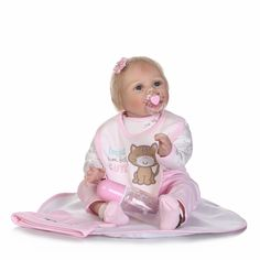 88.99$  Buy now - http://ali2w0.shopchina.info/go.php?t=32809862377 - 2017 new 22inch silicone vinyl real soft touch reborn baby 55CM lifelike newborn baby sweet baby gift for children 88.99$ #buyonlinewebsite