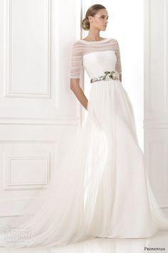 pronovias atelier bridal 2015 pre kaiden illusion long sleeve wedding dress