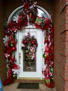 Christmas Door Decoration From Periwinkle Pink