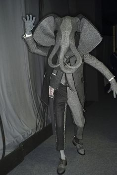 Backstage  Elephant Man at Thom Browne  Highlight Description Elephant Man at Thom Browne