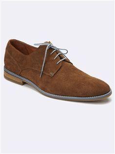 4798b6d5640795 DERBIES HOMME CROÛTE DE CUIR. DERBIES HOMME CROÛTE DE CUIR Chaussures ...