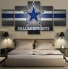 Dallas Cowboys Nfl Football Painting Canvas Wall Art Poster Home Decorative Dallas Cowboys Room, Dallas Cowboys Crafts, Dallas Cowboys Posters, Dallas Cowboys Wreath, Football Canvas, Nfl Football, Football Wall, Football Season, Cowboy Bedroom