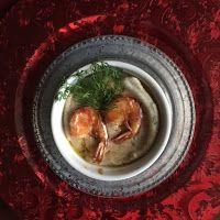 Smaakvol zonder zout: Kerst 2017 - Visrolletjes met garnalen. Hummus, Ethnic Recipes, Food, Meals, Yemek, Eten