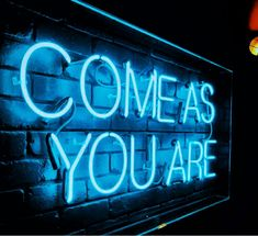 #nirvana #come #as #you #are #trueblu #blue #love #song #lyrics #neon #signs #lights #turnthelightson
