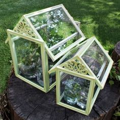 Dollar Store Frame Terrariums • Free tutorial with pictures on how to make a terrarium in under 60 minutes #artsandcraftsstores,
