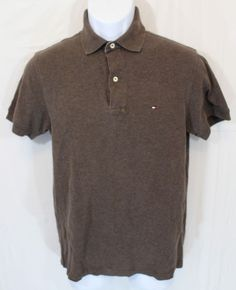 0503efe4 Details about Tommy Hilfiger Polo Shirt Mens Short Sleeve Classic Fit Mesh  New Xs S M L Xl Xxl