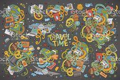 Set of travel planning objects and symbols set of travel planning objects and symbols - arte vectorial de stock y más imágenes de viajes libre de derechos