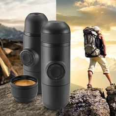 Mini Coffee Machine Handheld Coffee Maker Portable Espresso Manually handheld Coffee Machine Pressing For Home Office Travel Double Espresso, Italian Espresso, Best Espresso, Espresso Maker, Espresso Coffee, Espresso Machine, Coffee Cups, Portable Coffee Maker, Camping Coffee
