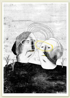 Marianne Engedal https://www.behance.net/skinkeape #Illustration #MarianneEngedal #artwork #drawing LessTalkMoreIllustration
