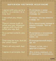 Выражаем частичное несогласие | How to express your partial disagreement