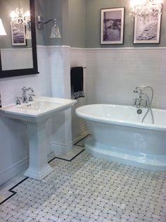 Bathroom Tile Ideas For Bathroom Floor Tile Ceramic Tile Floor Bathroom, Best Bathroom Tiles, Art Deco Bathroom, Bath Tiles, Bathroom Flooring, Bathroom Ideas, Bathroom Linen Closet, Loft Bathroom, Bathroom Renos