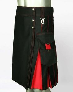 It starts from your fastening point to down to where you want the bottom of the kilt to be. Normally top of the knee is an endpoint of kilt drop length, it?s your kilt can be anywhere you like. Custom Made Kilt. Cheap Kilts, Desert Clothing, Kilt Shop, Kilts For Sale, Modern Kilts, Leather Kilt, Utility Kilt, Leather Jackets For Sale, Scottish Kilts